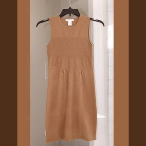 100% cashmere light brown dress small